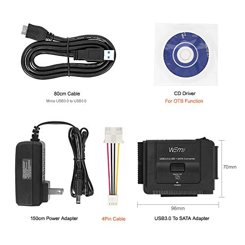 WEme USB 3.0 to SATA IDE Adapter with Universal 2.5