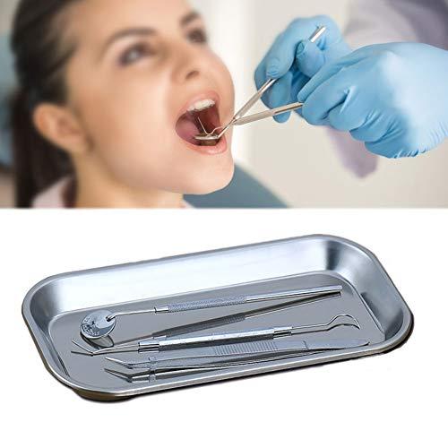 DZWJ Medical Surgical Tray Organizer für Instrumententabletts aus Edelstahl. Enthält eine dreiteilige Pinzette zum Häkeln von Endoskopzähnen