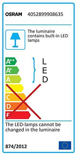 Osram Plafonnier LED 15 W Argent/teinte blanc chaud