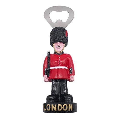 3D Londres Reino Unido Abrebotellas Cerveza Mesa Escritorio Ornamento Recuerdos Turísticos Hecho A Mano de Resina Artesanía Pegatinas Magnéticas Inicio Cocina Decoración Regalo de Viaje