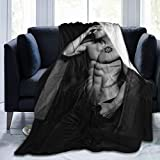 Jensen Ackles Soft and Comfortable Warm Throw Blanket Beach Blanket Picnic Blanket Fleece Blankets for Sofa,Office Bed car Camp Couch