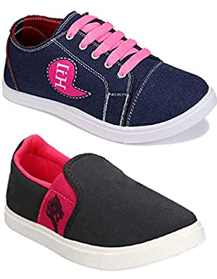 Shoefly Women Multicolour Latest Collection Sneakers Shoes- Pack of 2 (Combo-(2)-11029-764)