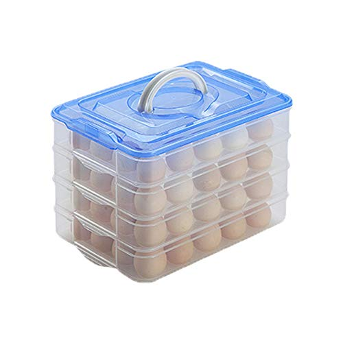 Cartón de huevos Cocina Almacenamiento Refrigerador Caja de almacenamiento Caja de huevos...