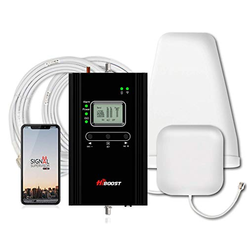HiBoost Cell Phone Signal Booster Signal Extender Cellular Booster Signal Amplifier Improve Cell Signal for Home and Office up to 1,000-4,000 Sq.Ft,Compatible All US Carriers-4K Smart Link