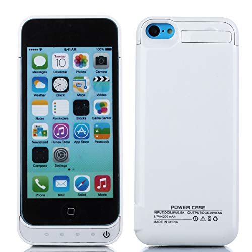 Akku Hülle Kompatibel mit iPhone SE 5SE 5 5S 4200mAh Battery Charger Hülle, Tragbare Ladebatterie Zusatzakku Externe Handyhülle Batterie Schutzhülle Wiederaufladbare Akku Case für iPhone SE