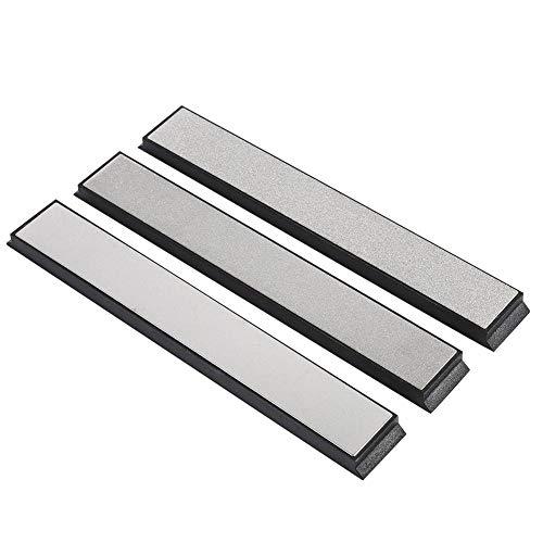 Asixx Wetzstein, Schleifstein-Set aus Diamant Körnun 240/600/ 1000 zum Messer Schärfen für Küchenwerkzeuge, Messer, Scheren, Cutter, Rasiermesser