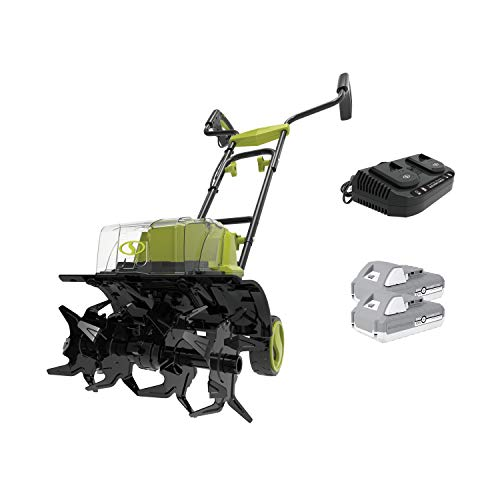 Sun Joe 24V-X2-TLR14 48-Volt iON+ Cordless Garden Tiller/Cultivator, Kit (w/ 2 x 2.0-Ah Batteries and Charger)