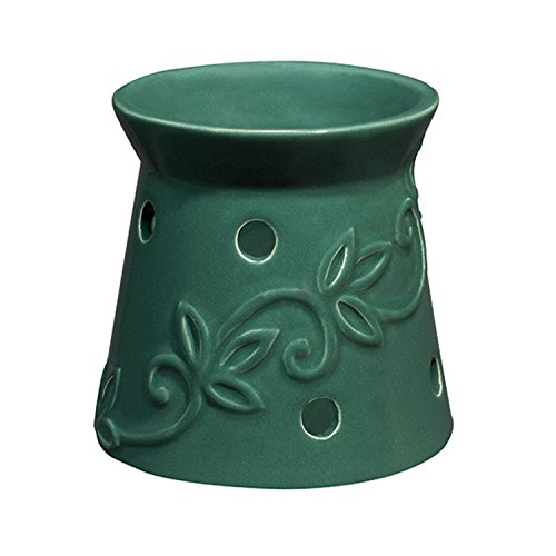 Westinghouse WL200045 Wax-Free Night Light Warmer with Vanilla Scented Disc, Green
