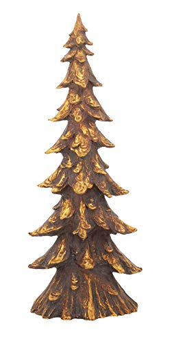 Fennco Styles Unique Tabletop Gold Melting Christmas Tree for Christmas Decorations, Office Displays, Home Décor, 20' H