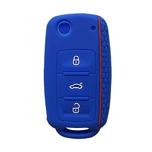FBFGCap para Volkswagen Golf Passat Beetle Polo Bora Llavero abatible de 3 Botones Llavero de Coche para Llavero con Alarma