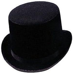 Black Felt Top Hat Steampunk Accesso...