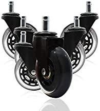 ValueHall 5 pcs Office Chair Caster Chair Replacement Wheels Swivel Casters revolving Chair casters for Office School Home...