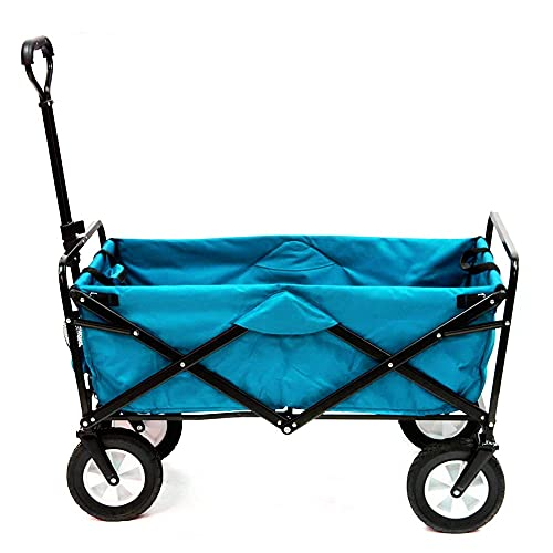 Y/X Véhicules utilitaires de plein air, très résistants, pliables pour l'extérieur, équipements de camping, camions divers, chariots portables légers et pratiques (couleur : bleu)