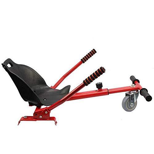 YAHAO Silla para Hoverboard, Hoverkart para Hoverboard,Asiento Hoverkart Go-Kart Silla Kart para Electric Self Balancing Scooter, Compatible con 6.5, 8 Y 10 Pulgadas,Red