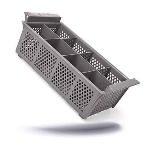 Kerafactum Besteckkorb Spülkorb Korb für Bestecke und Kleinteile Spülmaschine Spülmaschinenkorb universal aus Kunststoff 8 Fächer erweiterbar Cutlery Basket Gastronomie feinmaschig stapelbar