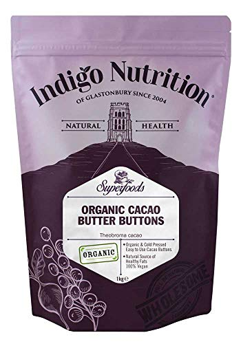 Indigo Herbs Burro di Cacao Puro a Gocce Biologici 1kg