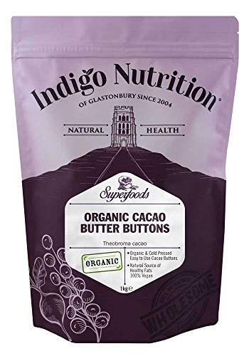 Indigo Herbs Bio Kakaobutterknopf | Chips 1kg