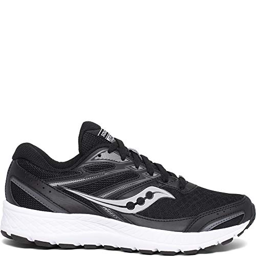 Saucony Women's Cohesion 13 Wide Walking Shoe, Black/White, 9 W US
