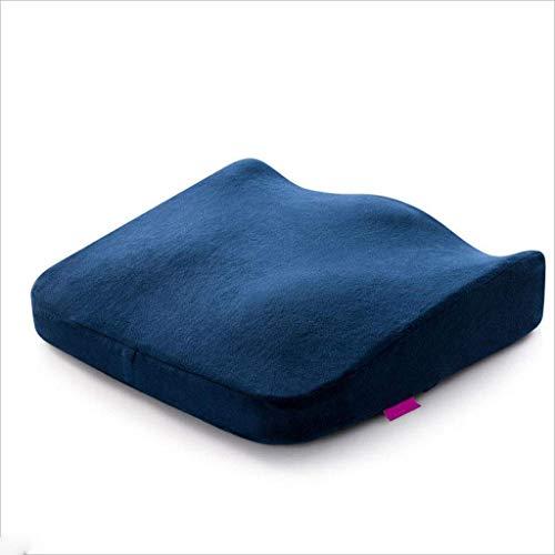 Kissen, ergonomische Kissen, büro schöne hüfte sitzkissen, Sommer Auto Lernen Auto Fahren Test höhe Sitz Student Stuhl hocker pad erhöhung pad (Farbe: blau)