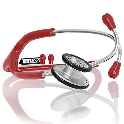 ELKO EL-150 PACE III SS Stainless Steel Acoustic Stethoscope (Red)