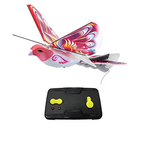 Dcolor Simulation d'oiseaux Télécommandée Vol à Battement d'ailes Induction Bird Eag Le électrique TéLécommande Bionic Bird Rose