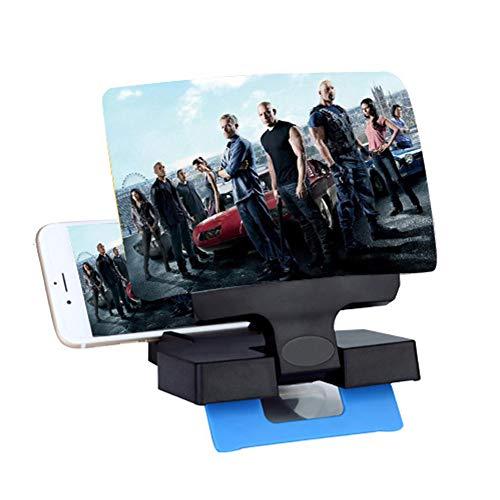 Shhjjpy 3D Scherm Vergrootglas Asferische HD Smartphone Vergrootglas Stereoscopische Projectie Mobiele Telefoon Vergroot Scherm Film Video Versterker Beugel Desktop Opvouwbare Stand Houder