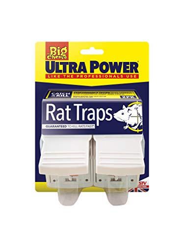The Big Cheese Ultra Power Rat Traps (Ready Baited, Easy to Set, Twin Pack)