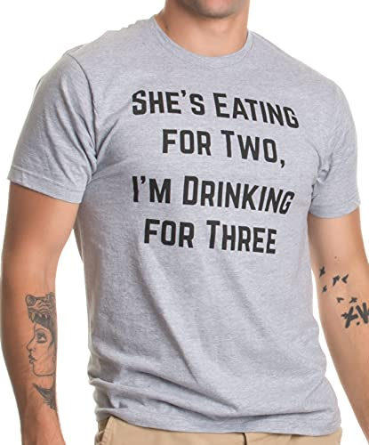 Product Image of the Drinking for Three   Funny New Dad Father Pregnancy Announcement Joke...