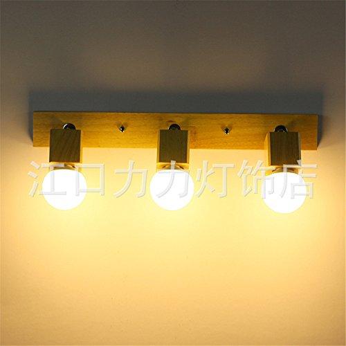 JJZHG Wandlamp, waterdicht, wandverlichting, spiegel, voorlamp, woonkamer, wandlamp, slaapkamer, bedlampje, badkamer, led hout, 540 mm, bevat: wandlamp, stoere wandlampen