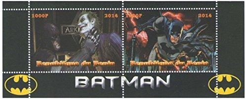 Batman Marvel graphic novel foglio di francobolli per collezionisti con 2 francobolli / 2014 / Benin/MNH