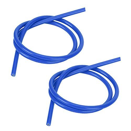 Cable de encendido de silicona confiable 2 piezas para automóvil(blue)