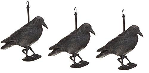 Rabe/krähe/taubenschreck/suspension pour effaroucher les oiseaux/épouvantail 38 cm noir