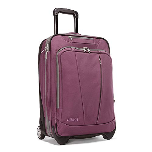 eBags TLS 22 Inch Expandable Wheeled Carry-On (Eggplant)
