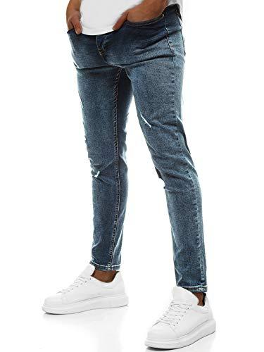 OZONEE heren jeans broek herenjeans jeans spijkerbroek skinny Röhenjeans biker stretch regular slim fit rechte sportjeans cargobroek cargo destroyed look wasbroek DP/546
