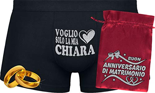 Herr Plavkin Voglio Solo la mia Chiara | Custodia ''Matrimonio.'' | Black Boxers & Red Bag '' Wedding.''