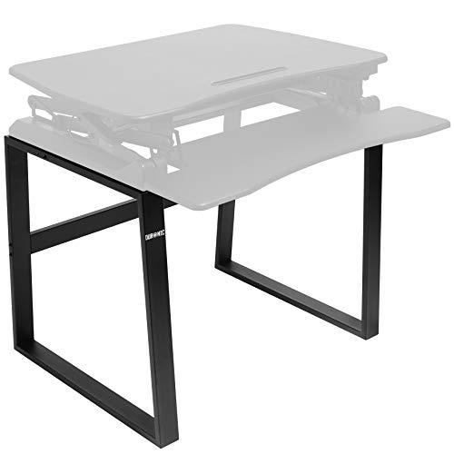 Duronic DM05D1 Estación de Trabajo para Monitor, Mesa Ordenador para Trabajar de Pie y Sentado con Altura Regulable 16 a 41 cm