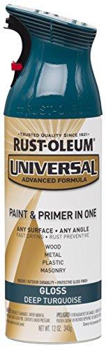 Rust-Oleum 284960 Universal All Surface Spray Paint, 12 oz, Gloss Deep Turquoise