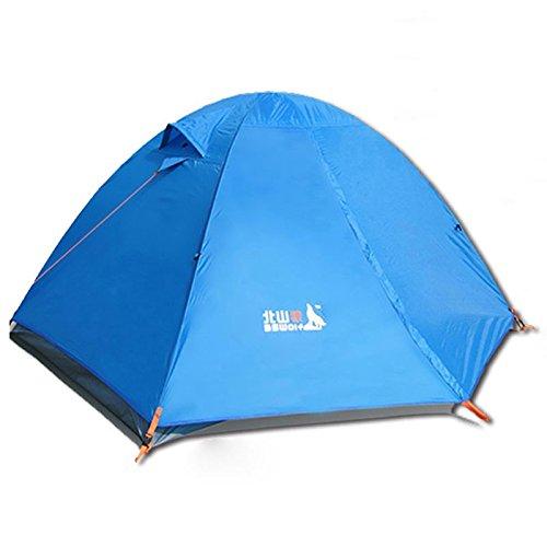 Double Tente Forfait Tente de Camping en Plein air Vent Sauvage Sac de Couchage de Camping d'hiver Coussin Gonflable Contre la tempête Quelques tentes Lampe