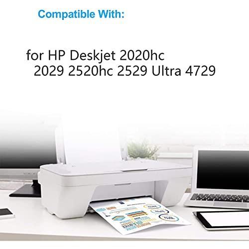 RICR Reemplazo De Cartuchos De Tinta 46xl, Compatible para HP DeskJet 2020HC 2029 2520HC 2529 Ultra 4729 Impresora De Modelos, Versión Larga 46XL BK+C