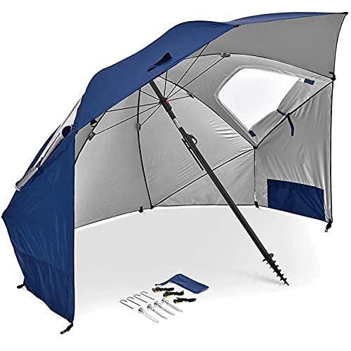 Sombrilla de Playa, Refugio Solar para Exteriores, toldo, cabaña, protección Solar UPF 50+, fácil instalación, Carpa de Playa, Liviana y fácil de Transportar