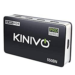 cheap Kinivo 550BN HDMI 4K switch with wireless IR remote control (5 connections, 4K 60 Hz HDR, HDMI 2.0, high …