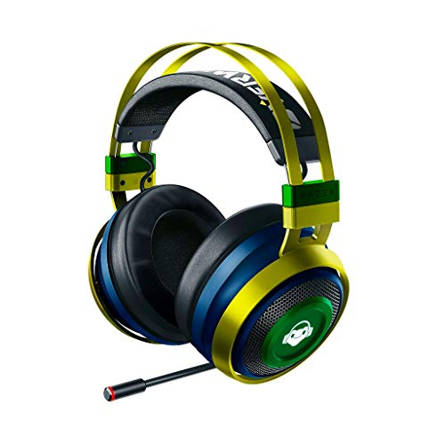 Razer Nari Ultimate Overwatch Lucio – Wireless Gaming Headset (Kabellose HyperSense Kopfhörer, Ohrpolster mit Kältegel, THX Spatial Audio & RGB Chroma Beleuchtung für PC, Xbox One, PS4 & Switch)