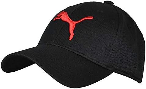 PUMA Men s Evercat Mesh Stretch Fit Cap Black Big Red L X Large product image