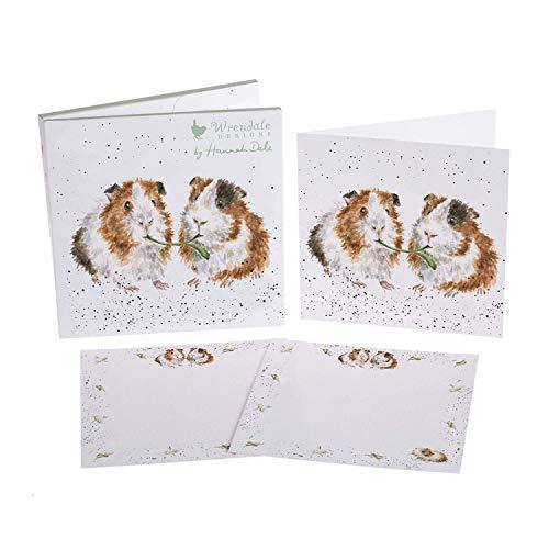 Too Much Turkey 8 LUXE OR FACTICE Cartes /& ENVELOPPES carte de no/ël coffret Wrendale Designs