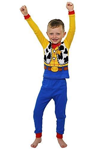 Toy Story Woody Toddler Boys Costume Style Pajamas Set (3T,...