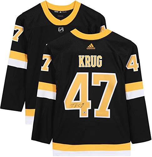 Torey Krug Boston Bruins Autographed Black Alternate Adidas Authentic Jersey - Fanatics Authentic Certified