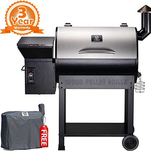 Z GRILLS Wood Fired Pellet Outdoor 8 in 1 BBQ Smokers/Elite Wood Pellet Grill(7002E) Smokers