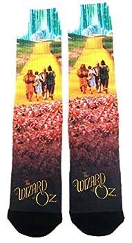 The Wizard of Oz Group Photo Yellow Brick Road Premium Sublimated Men s Crew Socks