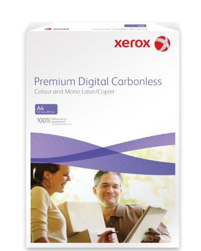 Xerox 003R99105 Premium Digital Selbstdurchschreibepapier, 2 fach-Satz, vorsortiert Karton mit 5 Pack, weiß/gelb