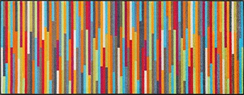 wash+dry Fußmatte Mikado Stripes, 75x190 cm, innen, waschbar, bunt